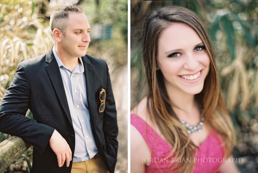 portraits of couple at philadelphia zoo engagement