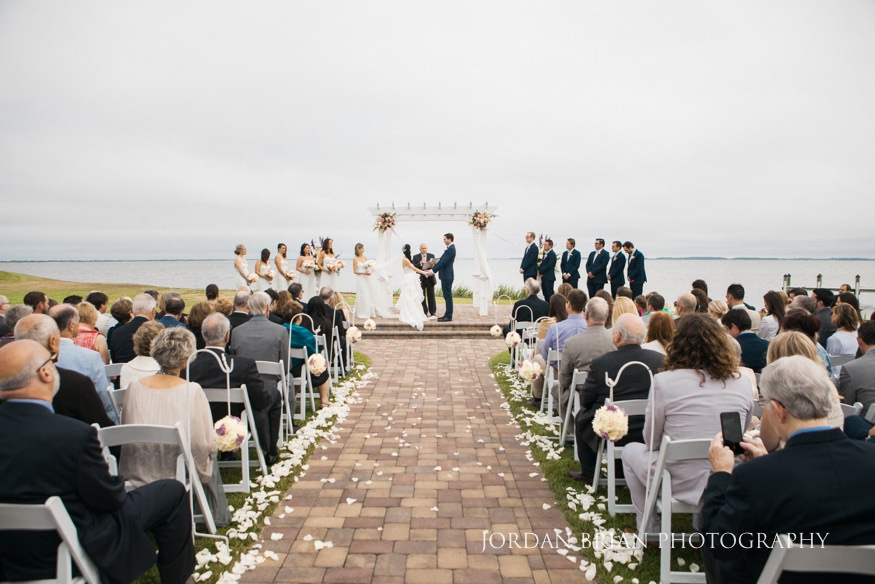 Outdoor Wedding Ceremony At Rehoboth Beach Country Club