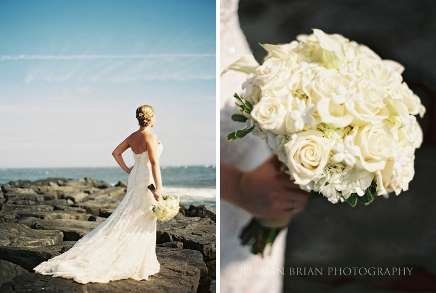brides bouquet at ocean city yacht club wedding