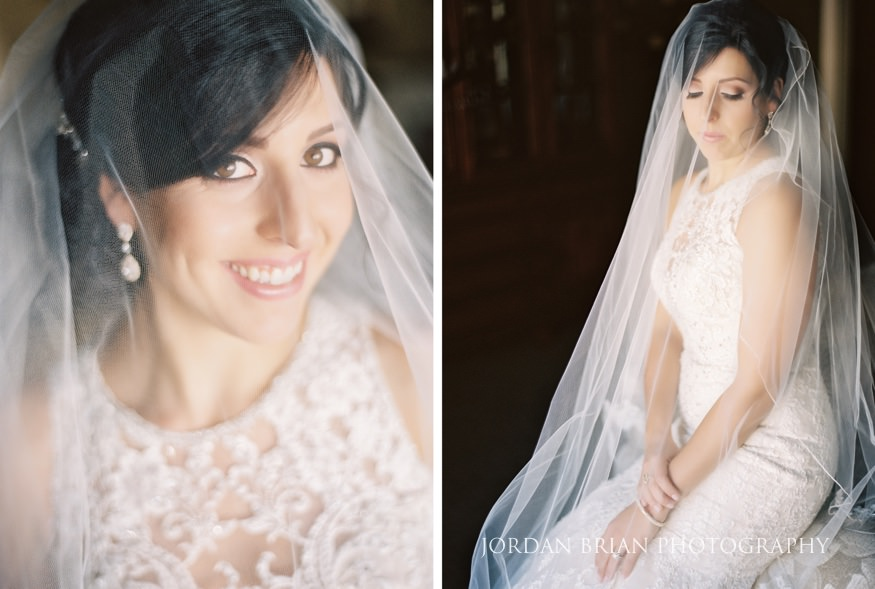 Bride portraits before Cescaphe Ballroom Philadelphia Winter Wedding.