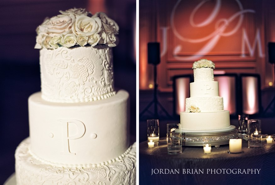 Cake details at Cescaphe Wedding philadelphia.