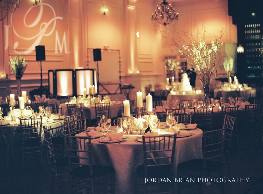 Cescaphe Ballroom Philadelphia Winter Wedding.