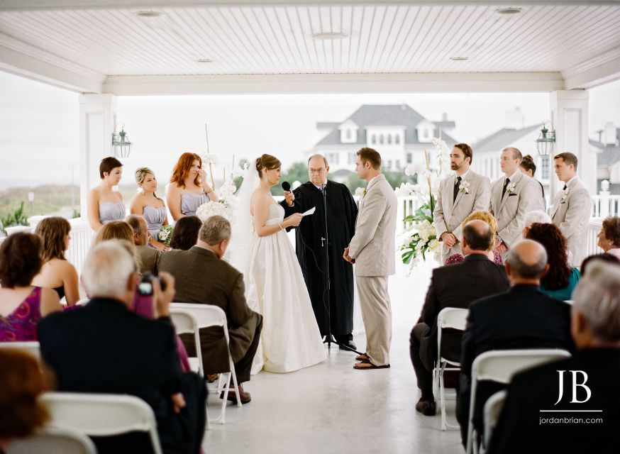 Spring Lake Bath and Tennis Club wedding ceremony