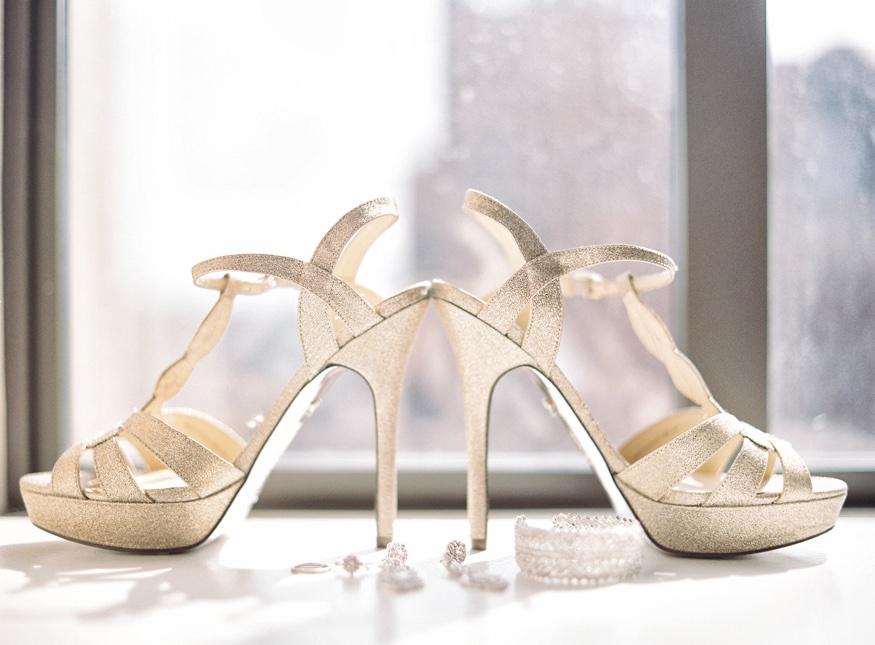 Wedding shoes at Chinese Philadelphia Wedding.