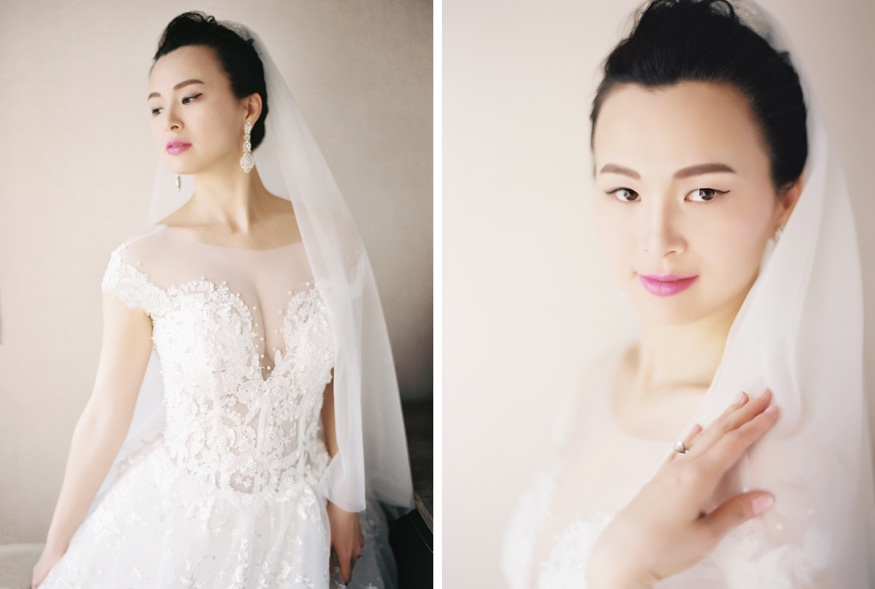 Bride portraits at Palomar Hotel before Chinese Philadelphia Wedding.
