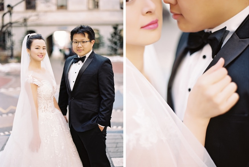 City Hall portraits at Chinese Philadelphia Wedding.