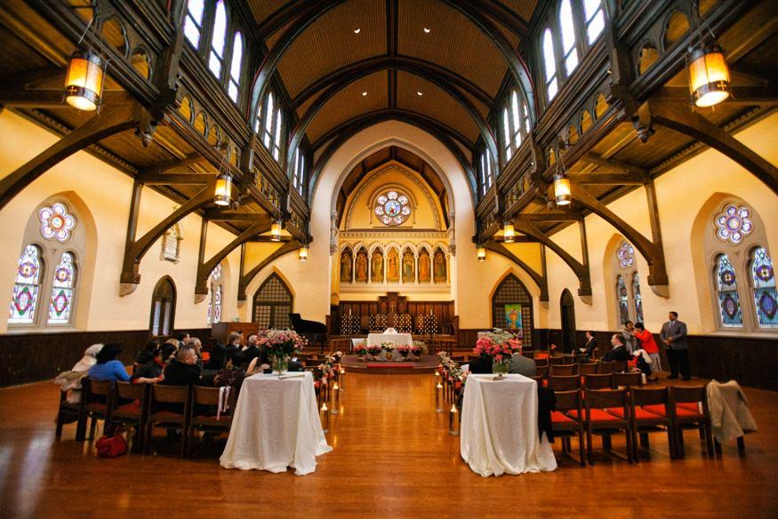 Trinity Center for Urban Life ceremony at Chinese Philadelphia Wedding.