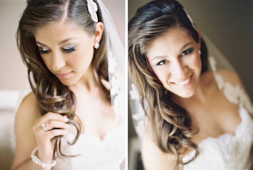 portraits of bride before the wedding