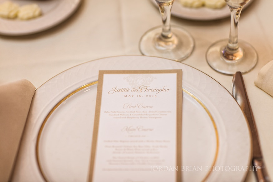 dining details of wedding at crystal tea room