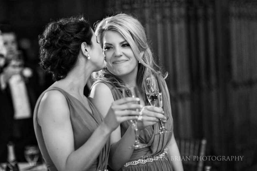 bridesmaids toast at crystal tea room