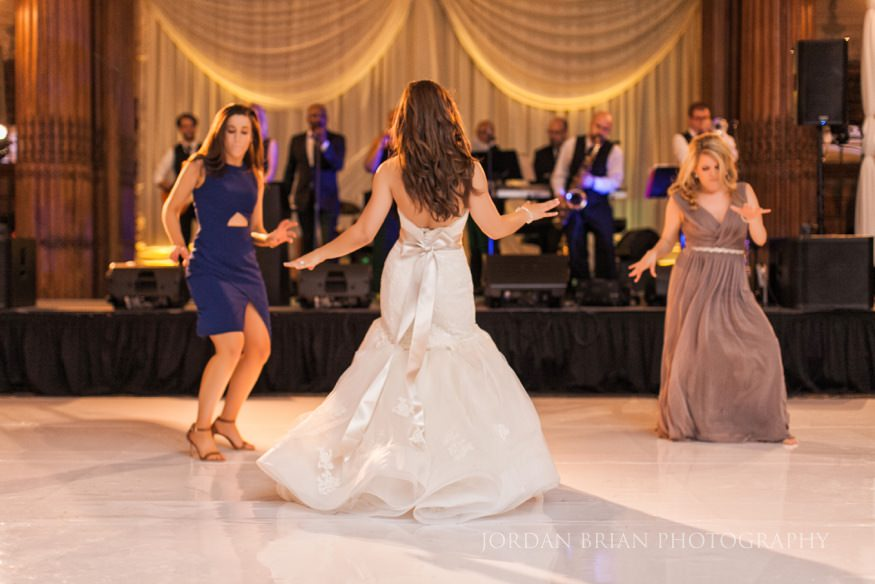 bride dancing during wedding reception at crystal tea room