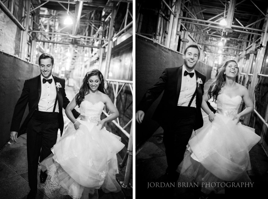 bride and groom night portraits in philadelphia