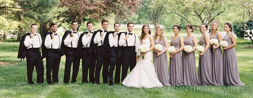 bridal party portrait in moorestown nj