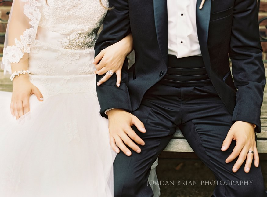 portrait of bride and groom in moorestown nj