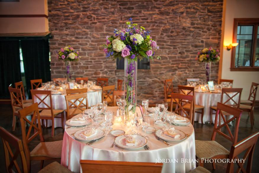 table details at knowlton mansion wedding