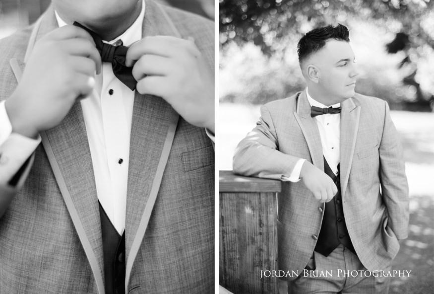 black and white film portrait of groom