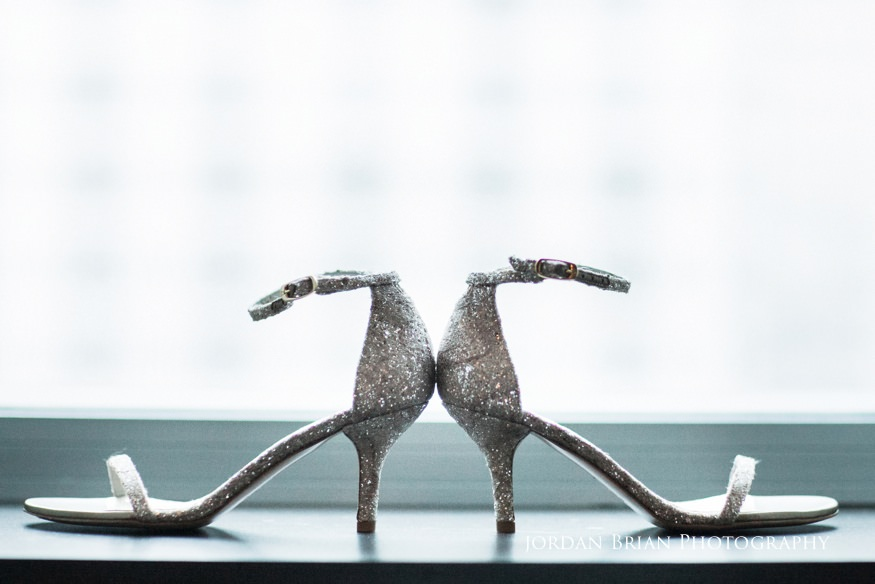Bride's shoes at Sofitel