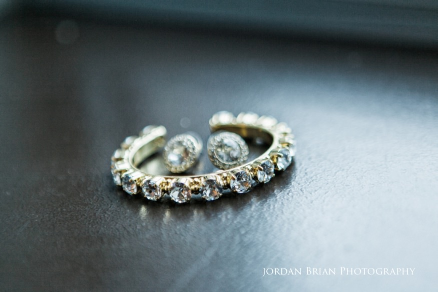 Bride's Jewelry at Sofitel for Fairmount Park Horticulture Center Wedding