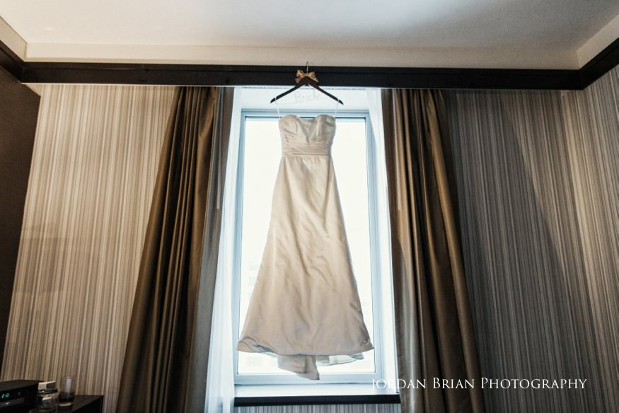 Bride's dress at Sofitel for Fairmount Park Horticulture Center Wedding