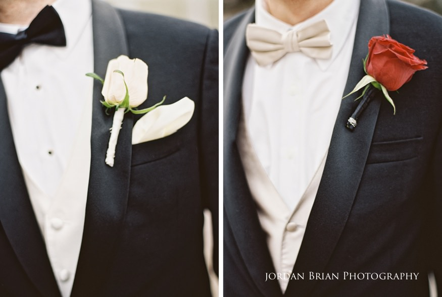 Groom detail photos in Rittenhouse Square befor their Fairmount Park Horticulture Center wedding.