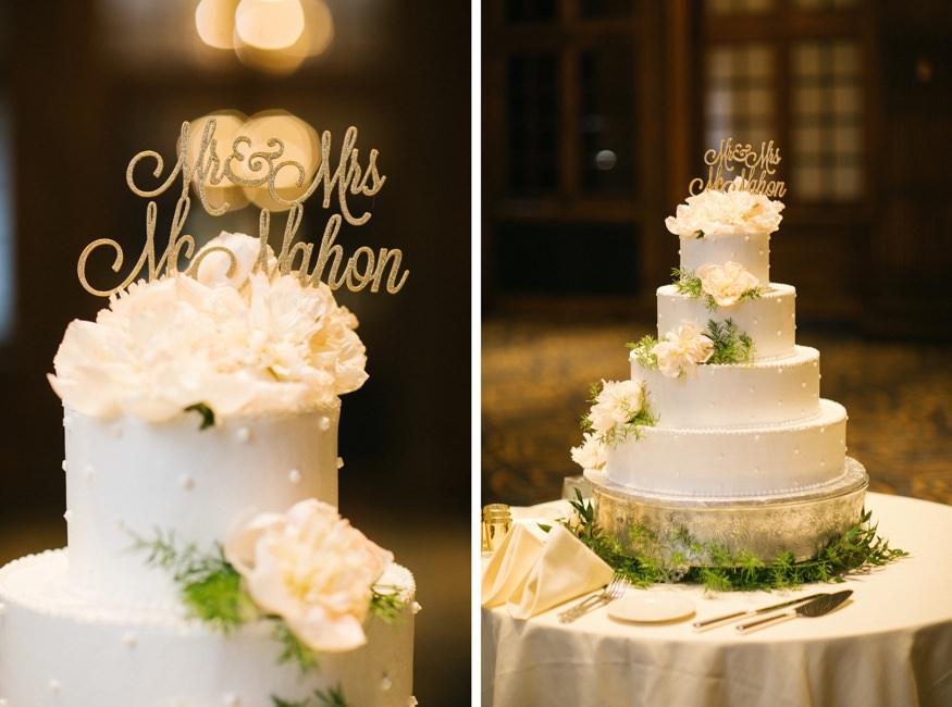 Wedding cake at the Crystal Tea Room in Philadelphia.