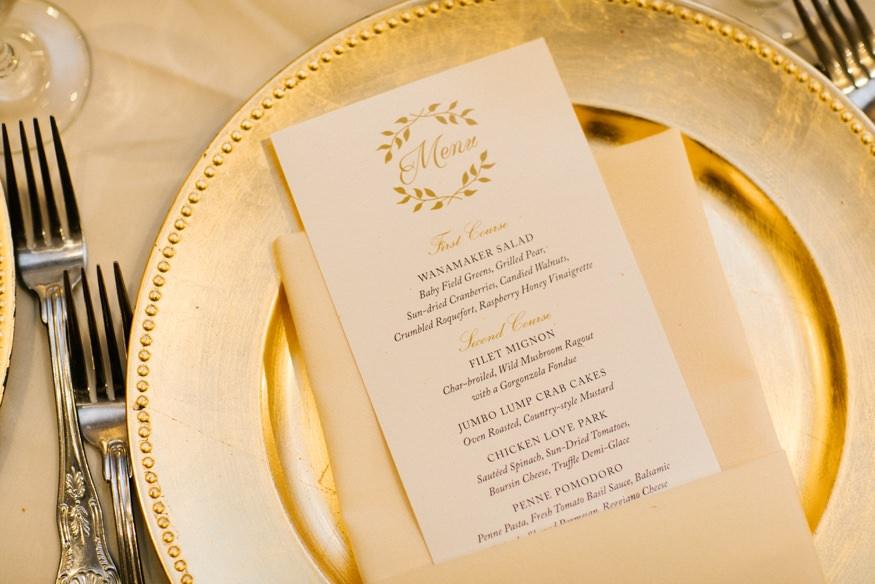 Reception at the Crystal Tea Room summer wedding.