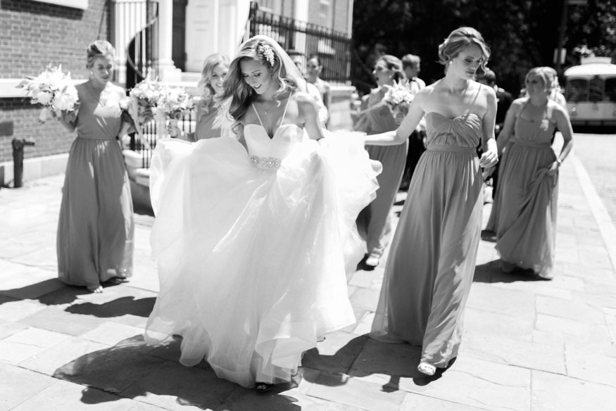 Bridal portraits in Old City Philadelphia before Crystal Tea Room wedding.