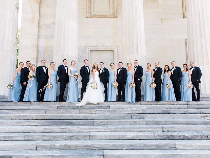 Bridal portraits in Old City Philadelphia before Crystal Tea Room wedding.