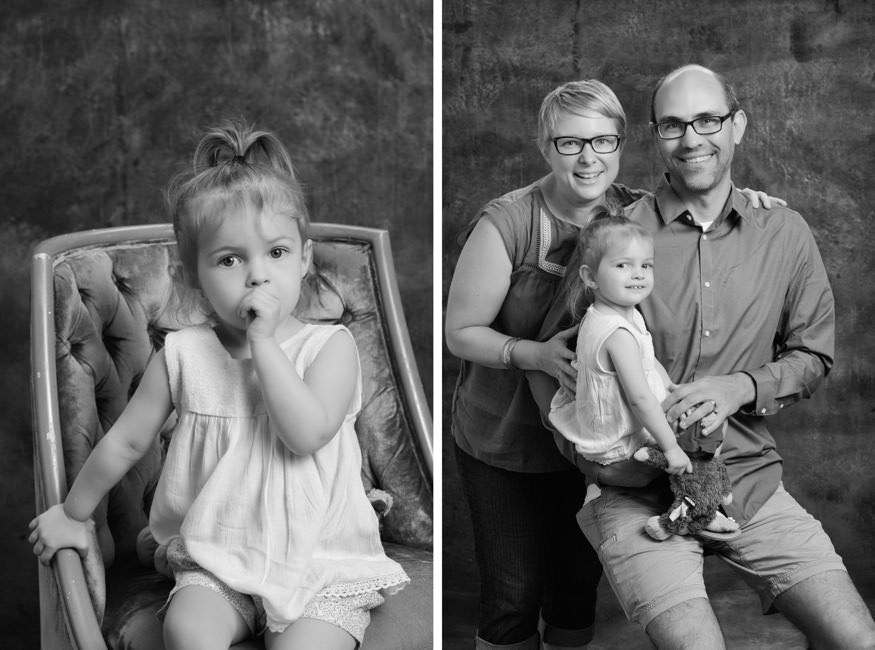 In studio South Jersey family photography. Black and white mini sessions.