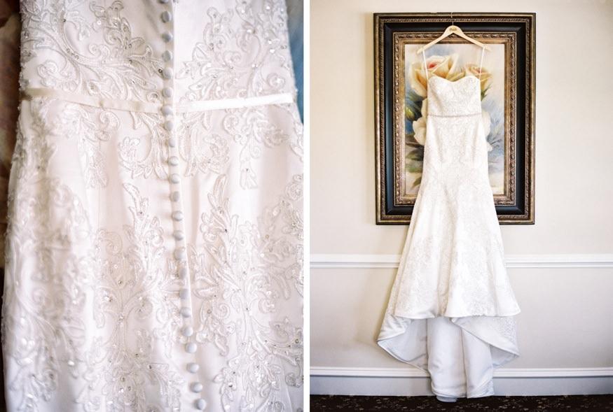 Bride's wedding dress by Oleg Cassini.