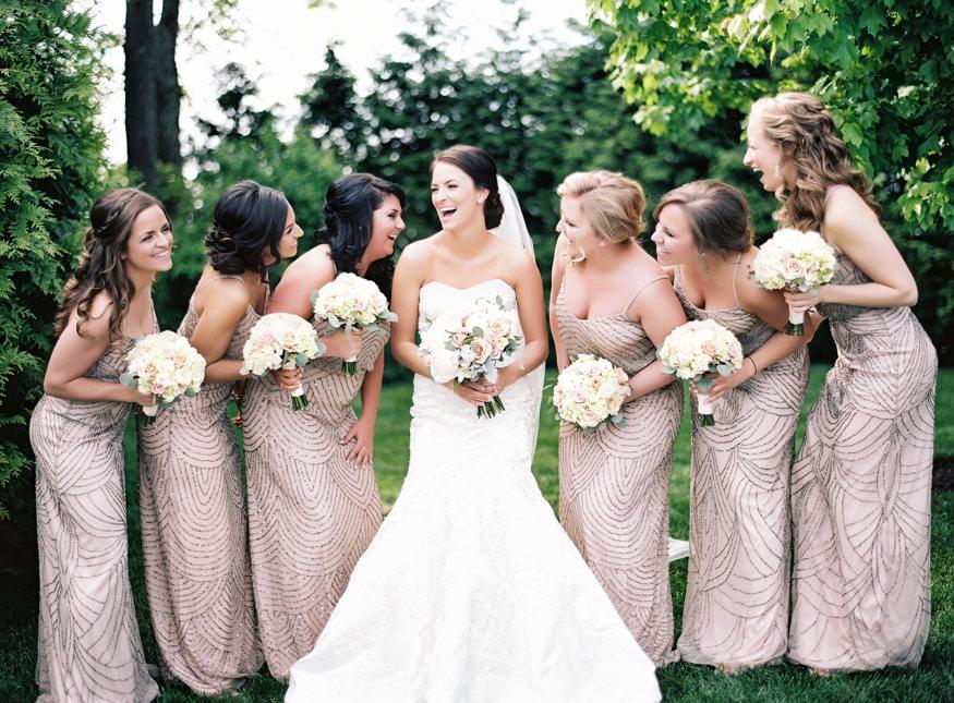 Bridesmaids at Trump National Golf Club wedding.