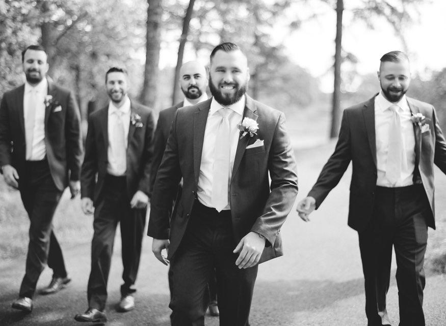 Groomsmen at Trump National Golf Club wedding.