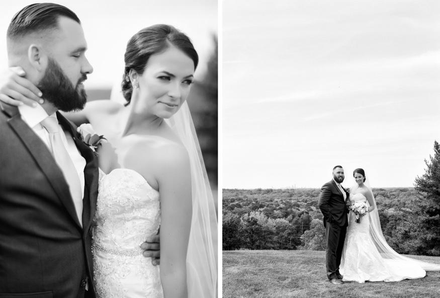 Bride and groom portraits at Trump National Golf Club wedding.