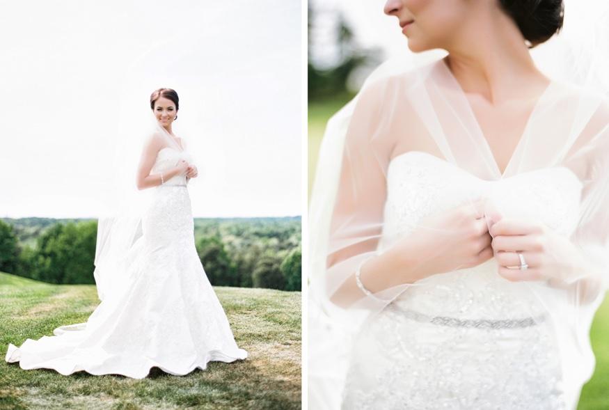 Bride portraits at Trump National Golf Club wedding.