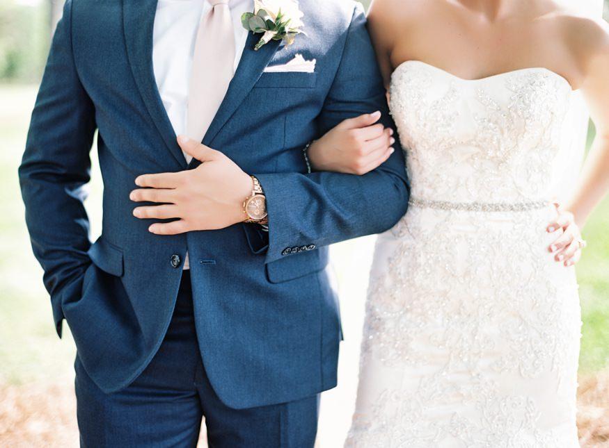 Bride and groom at Trump National Golf Club wedding.