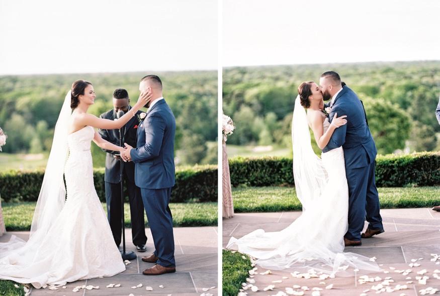Wedding ceremony at Trump National Golf Club.