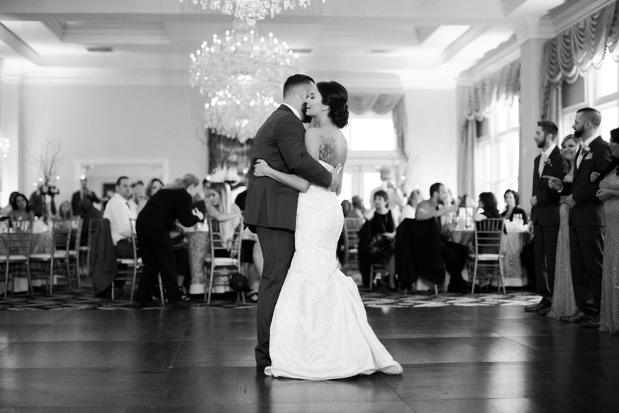 Bride and Groom first dance at Trump National Golf Club wedding.