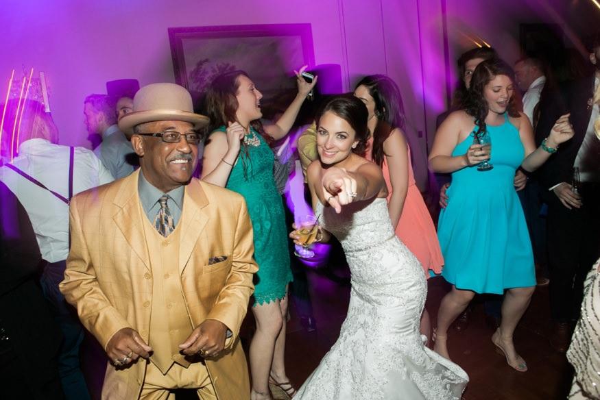 Reception dancing at Trump National Golf Club wedding.
