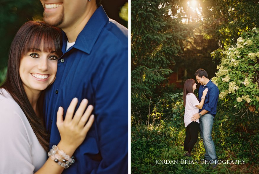 couple at their chesapeake city engagement