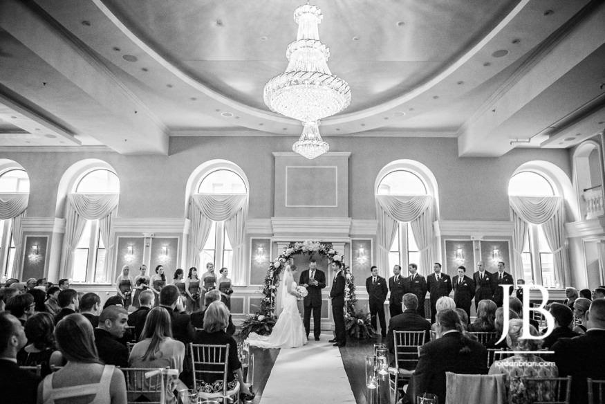 arts ballroom wedding indoor ceremony