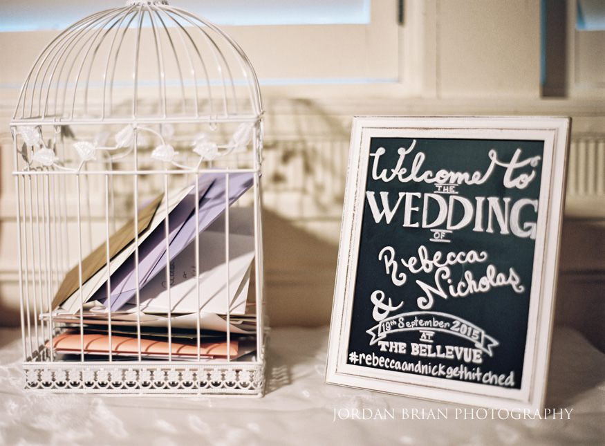 Table details at Hyatt at the Belleuve wedding reception.