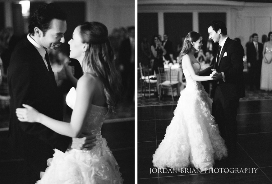 Bride and groom first dance at Bellevue Hotel wedding.