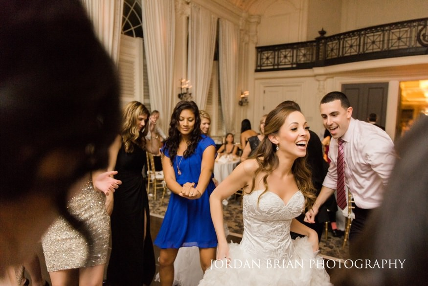 Dancing at Bellevue Hotel wedding.