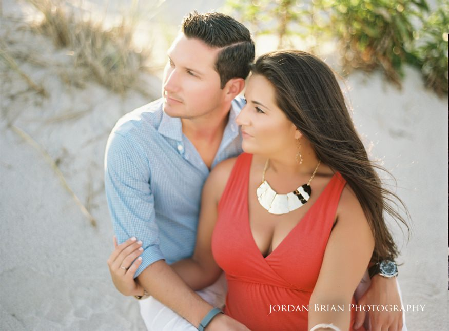LBI engagement session couple on beach