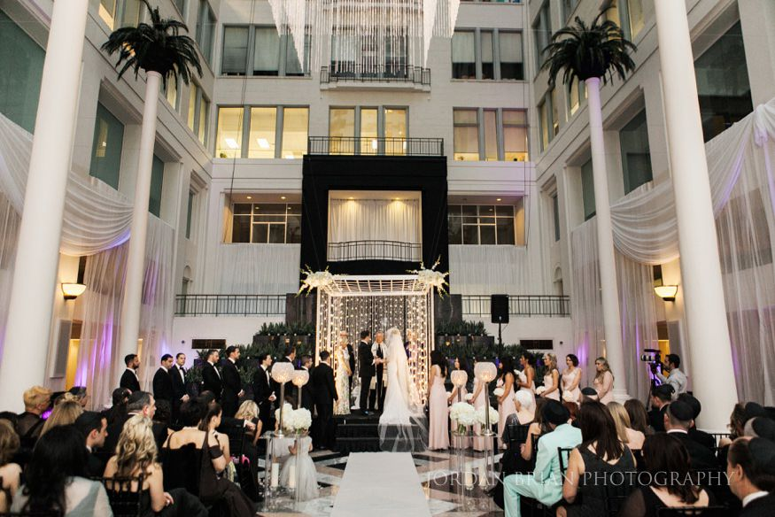 wedding ceremony at curtis Atrium in philadelphia