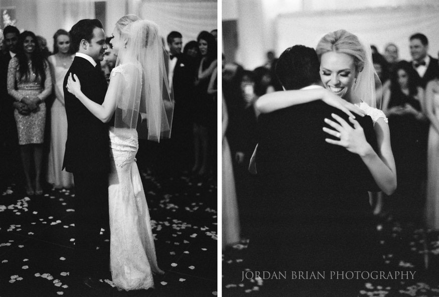 bride and groom first dance at curtis center wedding in philadelphia