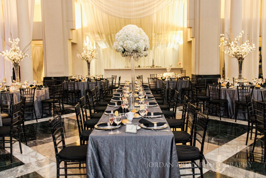 curtis atrium wedding reception details in philadelphia