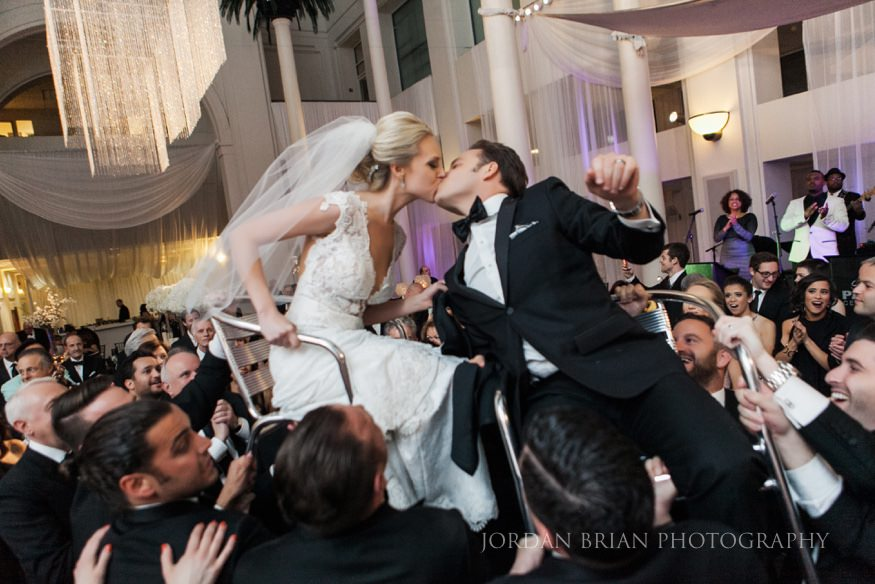 wedding hora at curtis center in philadelphia