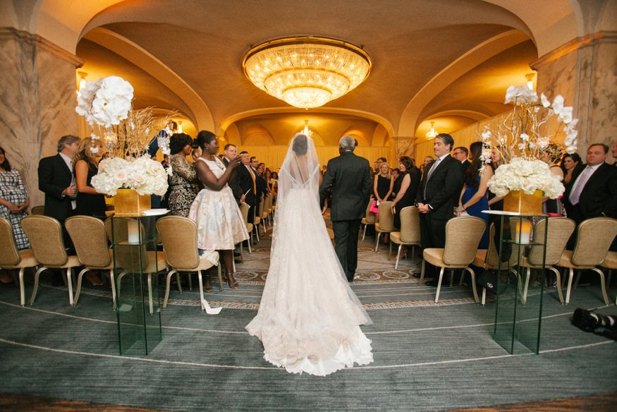 Ritz Carlton Philadelphia wedding ceremony.