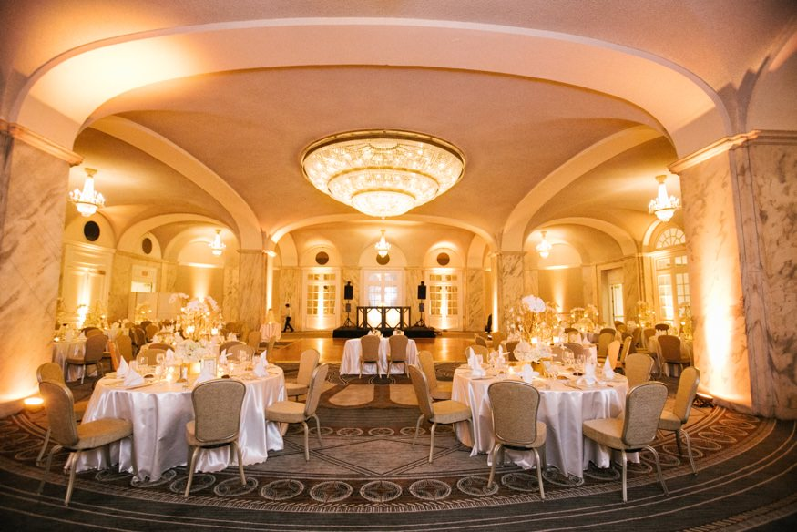 Wedding reception at Ritz Carlton Philadelphia.